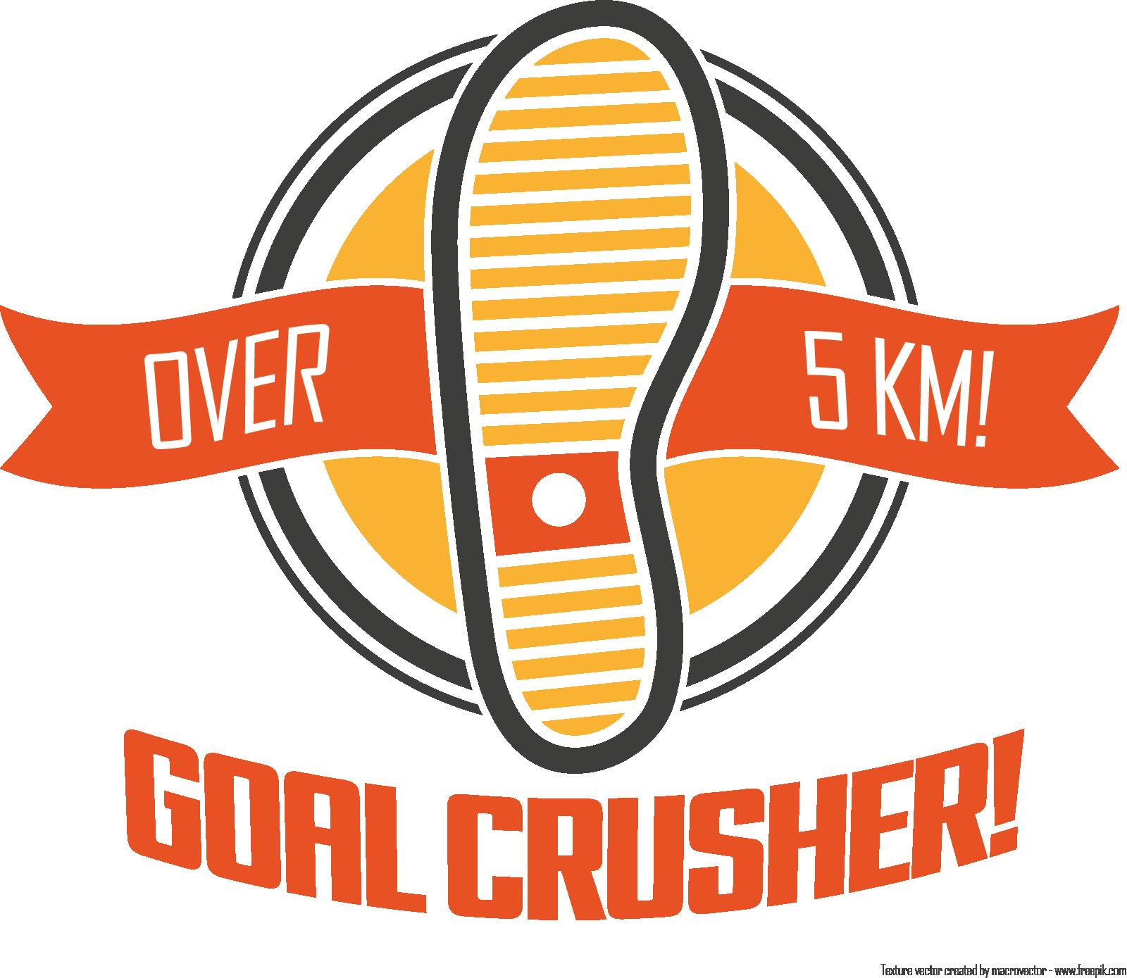 Goal Crusher badge (over 5k)